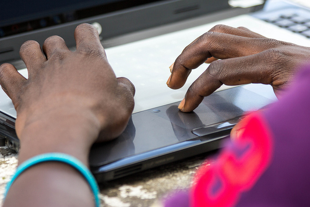 Typing II by OER Africa on Flickr, used under a CC-BY 2.0 license